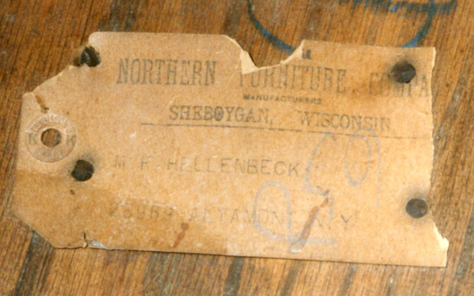 Northern Furniture Company Mattoon Manufacturing 1881 1904